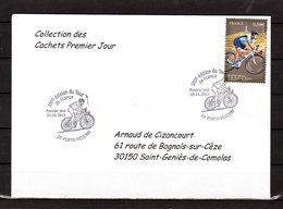 """"""" 100° TOUR DE FRANCE / PORTO-VECCHIO / CORSE """" Sur Env 1er Jour De 2013 Collection CACHETS PREMIER JOUR N°YT 4757 FDC - Cyclisme"""
