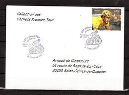 """"""" 100° TOUR DE FRANCE / PORTO-VECCHIO / CORSE """" Sur Env 1er Jour De 2013 Collection CACHETS PREMIER JOUR N°YT 4755 FDC - Cyclisme"""