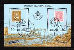 39b * CUBA * BLOCK AUSSTELLUNG STOCKHOLM * GESTEMPELT **!! - Expositions Philatéliques