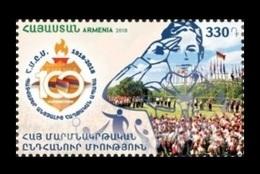 Armenia 2018 Mih. 1068 Homenetmen Athletic Union. Football. Basketball. Tennis MNH ** - Arménie
