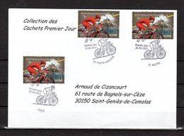 """"""" 100° TOUR DE FRANCE """" Sur Enveloppe 1er Jour De 2013 De La Collection CACHETS PREMIER JOUR N°YT 4762 FDC - Cyclisme"""