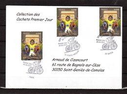 """"""" 100° TOUR DE FRANCE """" Sur Enveloppe 1er Jour De 2013 De La Collection CACHETS PREMIER JOUR N°YT 4761 FDC - Cyclisme"""