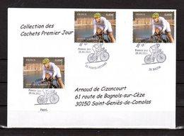 """"""" 100° TOUR DE FRANCE """" Sur Enveloppe 1er Jour De 2013 De La Collection CACHETS PREMIER JOUR N°YT 4760 FDC - Cyclisme"""