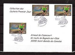 """"""" 100° TOUR DE FRANCE """" Sur Enveloppe 1er Jour De 2013 De La Collection CACHETS PREMIER JOUR N°YT 4759 FDC - Cyclisme"""