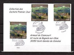 """"""" 100° TOUR DE FRANCE """" Sur Enveloppe 1er Jour De 2013 De La Collection CACHETS PREMIER JOUR N°YT 4758 FDC - Cyclisme"""
