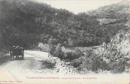 Villefranche-de-Rouergue - Gorges De L'Aveyron, Route De Vézis - Edition A. Rivals - Carte Non Circulée - Villefranche De Rouergue