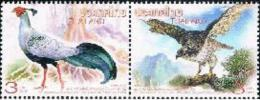Thailand 2015 Diplomatic 40 Years With North Korea And Joint Issue Birds 2v Mint - Thaïlande