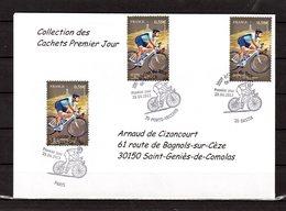 """"""" 100° TOUR DE FRANCE """" Sur Enveloppe 1er Jour De 2013 De La Collection CACHETS PREMIER JOUR N°YT 4757 FDC - Cyclisme"""