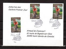 """"""" 100° TOUR DE FRANCE """" Sur Enveloppe 1er Jour De 2013 De La Collection CACHETS PREMIER JOUR N°YT 4756 FDC - Cyclisme"""