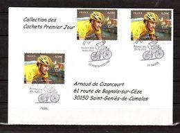 """"""" 100° TOUR DE FRANCE """" Sur Enveloppe 1er Jour De 2013 De La Collection CACHETS PREMIER JOUR N°YT 4755 FDC - Cyclisme"""