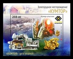 Kyrgyzstan 2018 Mih. 944 (Bl.96) Kumtor Gold Mine. Automobiles. Truck. Excavator. Minerals MNH ** - Kirghizistan