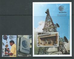 Nevis 1995 Skantel Communications Set Of 2 & Miniature Sheet MNH - St.Kitts-et-Nevis ( 1983-...)