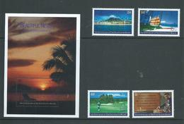 Nevis 1995 4 Seasons Tourist Resort Set Of 4 & Miniature Sheet MNH - St.Kitts-et-Nevis ( 1983-...)