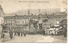 54    Pont-saint-vincent       Entrée Du Village       (état) Grattage à Droite De La Cpa - France