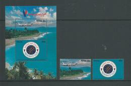 Nevis 1995 American Eagle Sheet Of 2 & 2 Separate Singles MNH - St.Kitts And Nevis ( 1983-...)