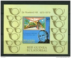 Guinea Ecuatorial 1979. Block C Sir Rowland Hill ** MNH. - Guinée Equatoriale