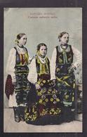 CPA SERBIE - Costume Nationale Serbe - TB  PLAN PORTRAIT De 3 Femmes + Libellé En Serbe - Serbie