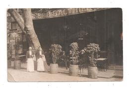 Brasserie Gauthier -serveurs Carte Photo; à Identifier  (C.8301) - Caffé