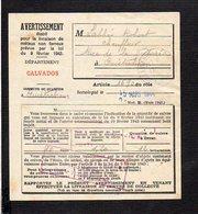 Ouistreham 14 / Militaria 1944 Avertissement Reçu établi Pour La Livraison De Métaux Non Ferreux (cuivre ) - Documents