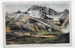(RECTO / VERSO) COL DU LAUTARET EN 1934 - MASSIF DU GALIBIER - BEAU CACHET - CPA VOYAGEE - Francia
