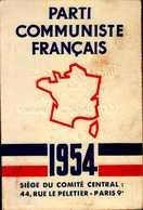 PARTI COMMUNISTE FRANCAIS..1954..CARTE D'ADHERENT - Cartes