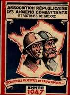 ASSOCIATION DES ANCIENS COMBATTANTS ET VICTIMES DE GUERRE...1947  ..CARTE D'ADHERENT - Maps