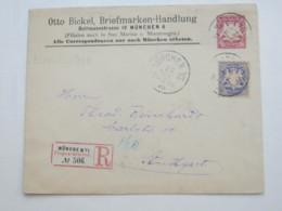 MÜNCHEN , Früher Einschreibbrief Als Privatganzsache - Bayern