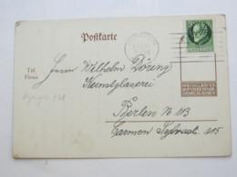 1915 , München , Firmenlochung Auf Karte , Perfin - Bayern