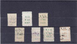 Palestine Revenue 1922 Hedjaz Railawys 5 Mils Green & Red, Imperf,sizes, Etc.7 V.. Rare, Used- Red. Pr. SKRILL PAY ONLY - Palestine
