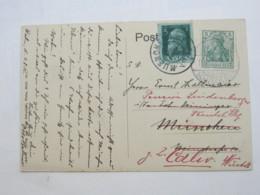 1912 , München , Nachsendekarte - Bavaria