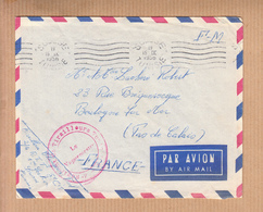 """MILITARIA Lettre De  SOUSSE Le 15 IX 1956  En FM   Cachet """"  4eme Regiment De Tirailleurs Tunisiens """" - Tunisia"""