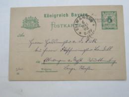1902 , WÖRISHOFEN , Klarer Einzeiler Auf Ganzsache - Bavaria