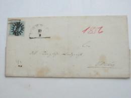 1856 , WÖRTH , Klarer Nummernstempel Auf Brief - Bavaria