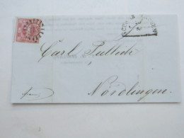 1853 , SCHWABHAUSEN  , Klarer Nummernstempel Auf Drucksache - Bayern