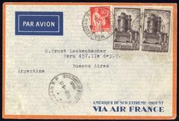 1938, Frankreich, 414 (2) U.a., Brief - France