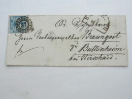 BAYREUTH   37  , Klarer Nummernstempel Auf Brief - Bayern