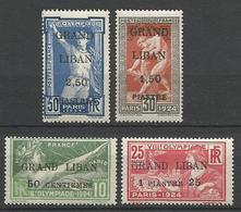 GRAND LIBAN  N° 18 à 21 NEUF** LUXE SANS CHARNIERE / MNH - Grand Liban (1924-1945)