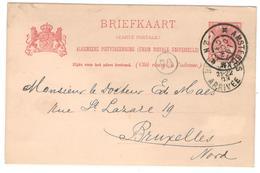 11106 - Entier  Pour La Belgique - 1891-1948 (Wilhelmine)