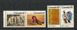 Canada - Kanada 1976 Y&T N°611 à 614 - Michel N°637 à 640 Nsg - Série Les Iroquois - 1952-.... Règne D'Elizabeth II