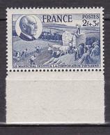 N° 607  80ème Anniversaire Maréchal Pétain:UnTimbre Neuf Impeccable Sans Charnière - France