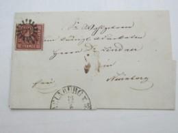 NEUNBURG   , Klarer Nummernstempel Auf Brief - Bayern
