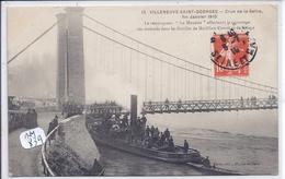 VILLENEUVE-SAINT-GEORGES- CRUE DE LA SEINE- 1910- LE REMORQUEUR LA MOUETTE - Villeneuve Saint Georges