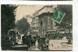 CPA  75 : PARIS  Porte St Martin Très Animée Avec Attelages  A  VOIR  !!!!!!! - France