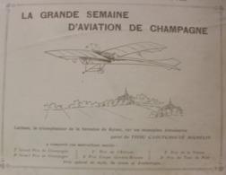 1909 LA GRANDE SEMAINE D'AVIATION DE CHAMPAGNE - LATHAM - MONOPLAN ANTOINETTE - MICHELIN - Journaux - Quotidiens