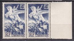 N° 669  Libération:Une Paire De 2Timbres Neuf Impeccable Sans Charnière - France