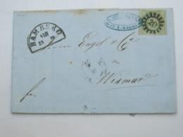 BAMBERG  , Klarer Nummernstempel Auf Brief - Bavaria