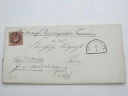 TRAUNSTEIN   , Klarer Nummernstempel Auf Brief - Bavaria