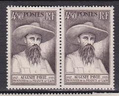 N° 784 Centenaire De La Naissance D'Auguste Pavie: Une Paire De 2 Timbres Neuf Impeccable Sans Charnière - France
