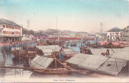 ALTE AK  SINGAPUR / Asien  - Boat Quay - 1911 Gelaufen - Singapour