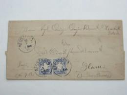 1891 , NEUSTADT   , Klarer Stempel Auf Brief In Die Schweiz - Bavaria